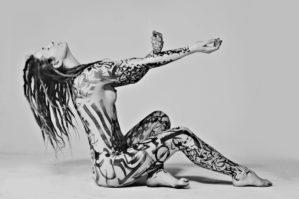 Body painting. Akore
